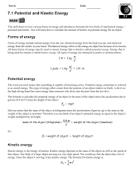 Potential or Ki ic  – Middle School Science Worksheets – School together with Ki ic vs  potential energy worksheet also Calculating Ki ic Energy Worksheet Free Worksheets Library further corsalarne34's soup additionally 7 1 Potential and Ki ic Energy   CPO Science   PDF Drive together with Worksheet 6  Work and Ki ic Energy likewise Enjoy this freebie sort to review Potential and Ki ic energy moreover Ki ic and Potential Energy   Lincoln 8th Grade Science in addition  as well AHS  Mechanical Energy Worksheet further Worksheets for all   Download and Share Worksheets   Free on. on potential and kinetic energy worksheet