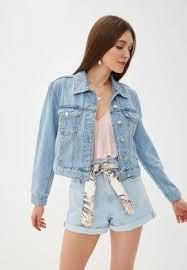 Женские <b>джинсовые куртки</b> — купить в интернет-магазине Ламода