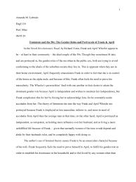 rev road essay final gender role ethnicity race gender road essay final gender role ethnicity race gender