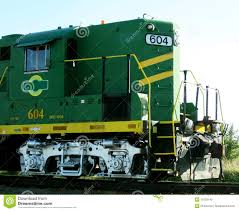 Green And Yellow Train Engine Stock Image - Image of speed, details ...