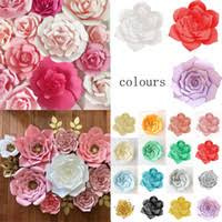 Buy Paper Flower Diy Paper Flower Backdrop Wall 30 Cm Giant Rose Flowers Wedding Party Decor