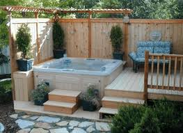 hot tub deck. Hottub Deck For A Small Space Hot Tub P