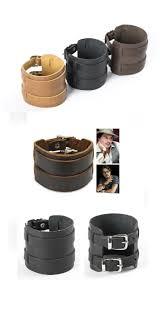 men s bracelet 100 genuine leather cuff wristband leather cuff two buckles multi strand cuff bohemian jewelry men arm cuff black or brown
