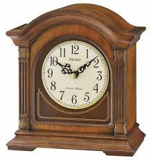 seiko qxj029blh antique walnut chiming mantel clock