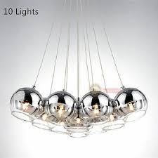 new modern chrome glass bubble led pendant light chandelier ceiling lamp lights 4