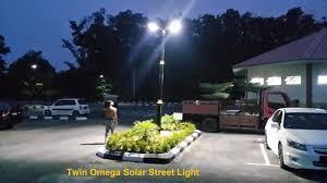 twin omega solar street light car park pahang malaysia