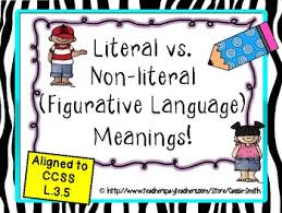 literal language literal and nonliteral language figurative lessons
