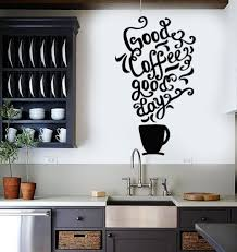 Small Picture Vinyl Wall Decal Quote Coffee Kitchen Shop Restaurant Cafe Art