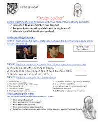 Dream Catcher Worksheet Best Movie Worksheet Dreamcatcher