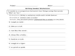 similes and metaphors worksheets 4th grade | Guillermotull.COM