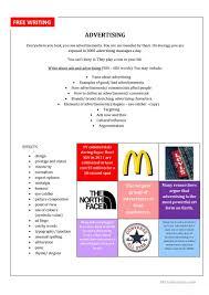 Free Writing Ads Worksheet Free Esl Printable Worksheets Made By