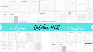 Journal Templates October Planner Journal Templates