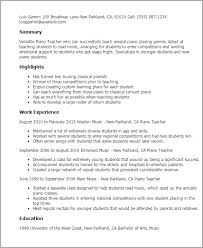 Professional Piano Teacher Templates To Showcase Your Talent Magnificent Resume Playing Music