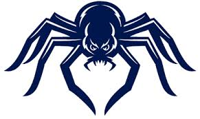 Richmond spiders primary logo history. Richmond Spiders Alternate Logo 2002 Blue Spider Looking To Go In For Attack Sports Logo Inspiration Richmond Spiders Logos