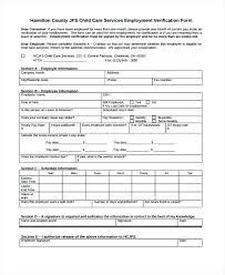 Free Employment Verification Form Template – Pitikih