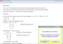 year interactive maths software mathematics software or math solution for a question from year 9 interactive maths chapter 5 simultaneous equations
