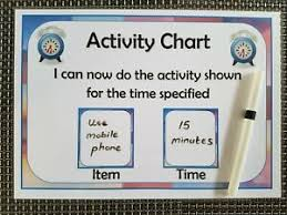 Details About Activity Chart Behaviour Reward Autism Asd Adhd Sen Timer Timed Activity