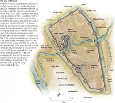 a map of the ancient assyrian city of nineveh (modern day mosul