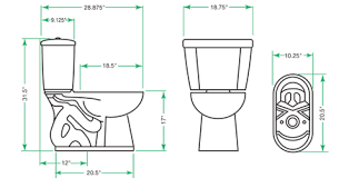 dimensions of elongated toilet. stealth dual flush ultra-high efficiency toilet - elongated dimensions of performance utilities