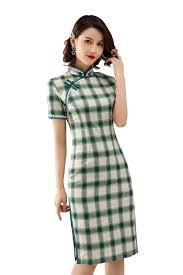 <b>Shanghai Story</b> Blend Linen Chinese Oriental Dress Short Sleeve ...