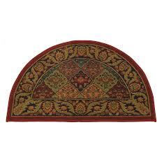 half round burdy hearth rug