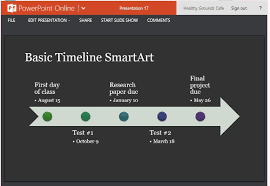 word powerpoint online timeline smartart diagram template for powerpoint online
