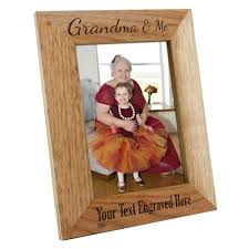 details about personalised grandma me wooden oak portrait photo frame engraved gift