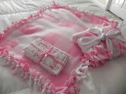 lifes little garden no sew fleece baby blanket diy