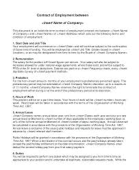 Sample Contract Agreement Template Free Download Blank Form For ...