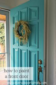 how to paint a front doorhow to paint the front door a cheerful color