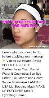 insram makeup and memes how to prep your face 0 for makeup js