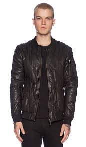 Scotch & Soda Quilted Leather Bomber Jacket in Black | REVOLVE & Quilted Leather Bomber Jacket. Scotch & Soda. Quilted Leather Bomber Jacket Adamdwight.com