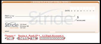 Stride Credit Union Direct Deposit