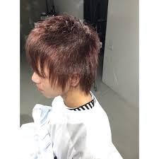 メンズもアプリエカラーでハイ透明感のピンクアッシュ Hair Create