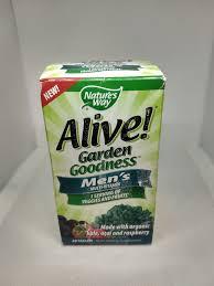 upc 033674121122 product image for alive garden goodness men s multivitamin 60 tabs upcitemdb com