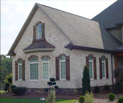 Light Grey Brick House Light Brick Wood Shutters Light Brick Exterior House