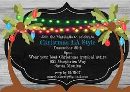 Christmas Holiday Tropical Party Invitations 2019