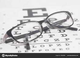 Eyeglasses Eyesight Test Chart Background Close Stock