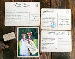 Vintage Postcard Wedding Invitations From Royal Steamline Junebug