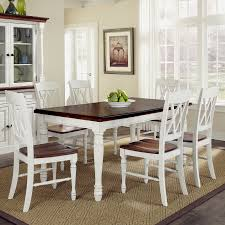 home styles monarch white oak 7 piece dining set with dining table