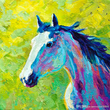 2019 horse head ii artwork unframed modern canvas wall art for home and office decoration oil painting animal painatings frame painting from youmeart8888