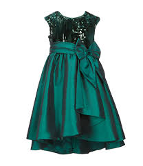 Bonnie Jean Little Girls 4 6x Sequin Embellished Taffeta Hi Low Dress Dillards