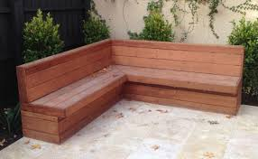 diy patio storage bench inspirational merbau clad bench seat with backrest concept outdoor bench with