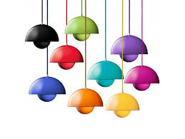 verner panton flowerpot pendant lamp dining room living room ceiling light metal flower pot modern bar coffee house ufo chandelier kitchen island lighting