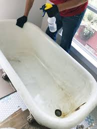 so we sprayed the whole thing down with 1 part white vinegar 1 part water and used a little elbow grease and a green scouring pad to get all of the