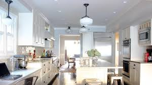 Kitchen Lighting With Schoolhouse Pendants And Semi Flush Mount. Photo  Credit: Traditional Kitchen