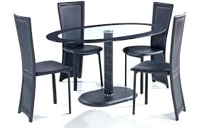 black oval dining table black glass oval dining table oval glass dining table with 4 chair