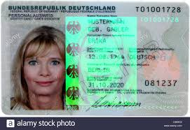 Holographic And Photo - German Alamy Security Picture Id-card With New 3-d Stock 37672322