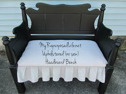 Headboard Bench Plans Upholstered Headboard Bench My Repurposed Life