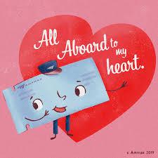 Amtrak Valentines Day Cards